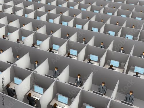 office work Fototapet