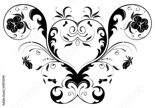 Printed kitchen splashbacks Butterflies in Grunge Floral background