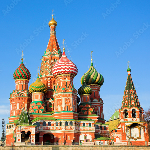 Foto-Kassettenrollo premium - St. Basil's Cathedral on Red square