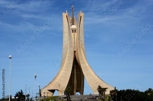 Türaufkleber Algerien monument d'alger