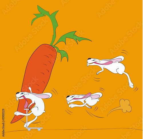 Poster de jardin Chambre bébé Rabbit race