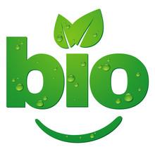 Logotype BIO Avec Gouttes D'eau
