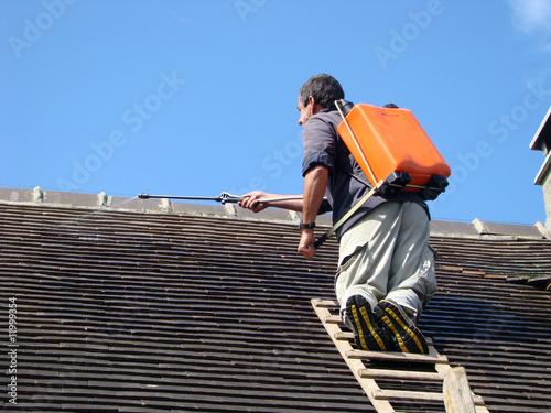 Fototapeta Couvreur- Démoussage de toit-05516 obraz