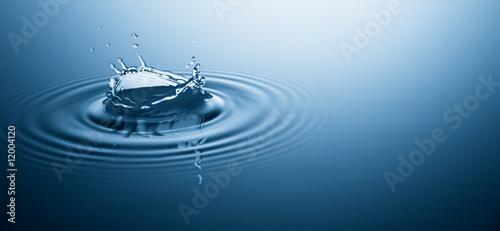 canvas print motiv - Okea : water splash and ripple