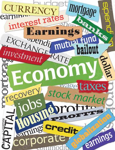 Fotografía  Economy Keyword Montage