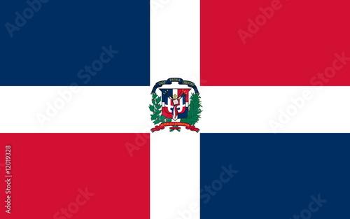 Obraz Flagge Dominikanische Republik - fototapety do salonu