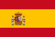 canvas print picture - Flagge Spanien