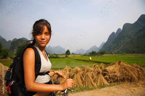 Deurstickers Guilin Turist in China