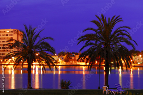 Cadres-photo bureau Violet Mallorca, night panorama