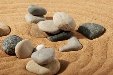 Fototapeta na wymiar Garden of stones, zen-like, tranquil, spa images