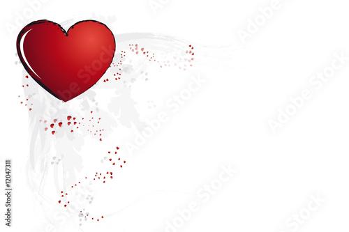 Herz In Verschiedenen Grossen Herzschablone