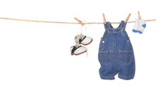 Cute Baby Boy Clothes Hanging ...