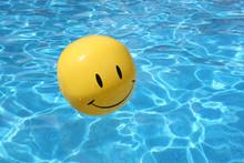 Happy Yellow Beach Ball.