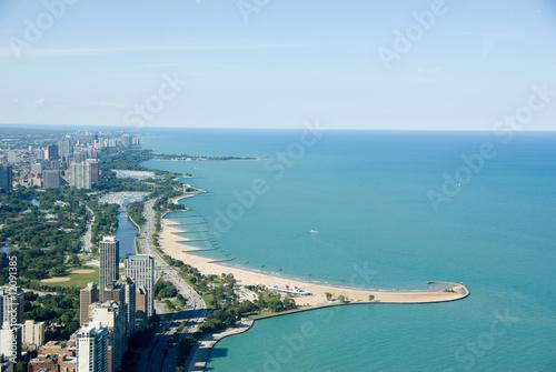 Poster Chicago millenium et lake