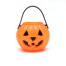Isolated Plastic Jack-o-lantern Pumpkin