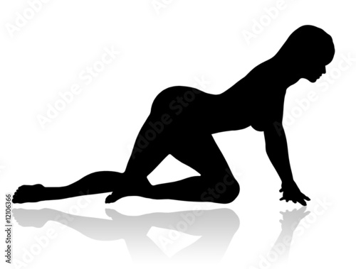 Fotografie, Obraz A sexy silhouette