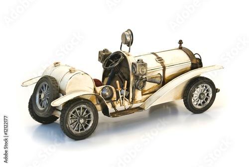 back of white oldtimer model - 12122177