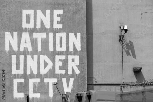 banksy CCTV Canvas Print
