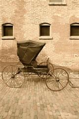 Fototapeta na wymiar Horse-drawn carriage