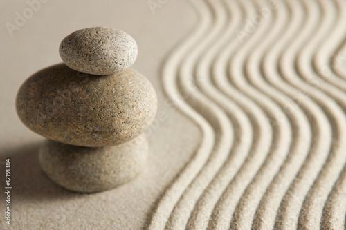 Acrylic Prints Stones in Sand Balance