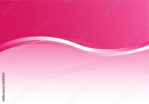 Hintergrund Rosa mit Illustration Fototapet