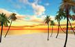 canvas print picture Dream island