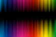 canvas print picture - Abstract background from spectrum lines with copy space