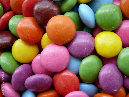 Foto op Aluminium Snoepjes Colored sweets