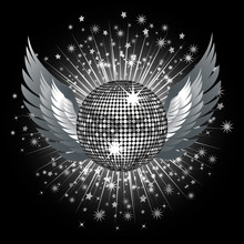 Silver Disco Ball And Wings