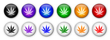 Cannabis Leaf Buttons (rainbow...