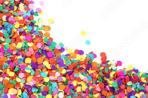 Fototapeta Colorful confetti isolated on white background obraz na płótnie