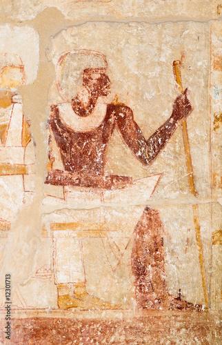 obrazek-faraon-na-scianie-sakkara-egipt