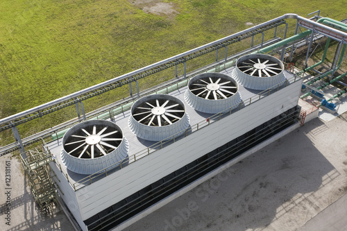 Photo Cooling Tower At Energy Generating Plant
