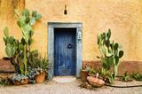Urocze rustinowe drzwi w gorącym kraju klimatycznym - 12326976
