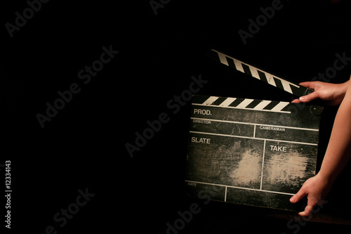 Photo  movie clapper board