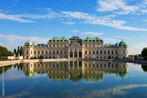 Photo  Summer palace Belvedere in Vienna