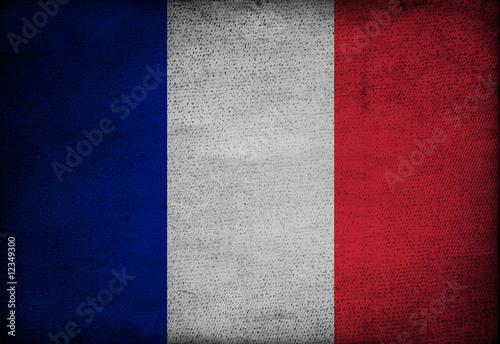 Fotografia France flag on vintage paper