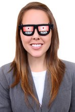 Woman With X-Ray Glasses