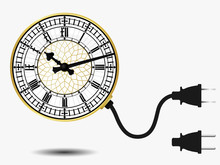 Big Ben Clock With Connector Plug