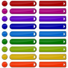 Colored Web Buttons - Blank Wi...