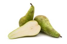 Slice Pear On White Background