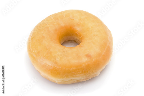 Doughnut or donut isolated on white background. Poster