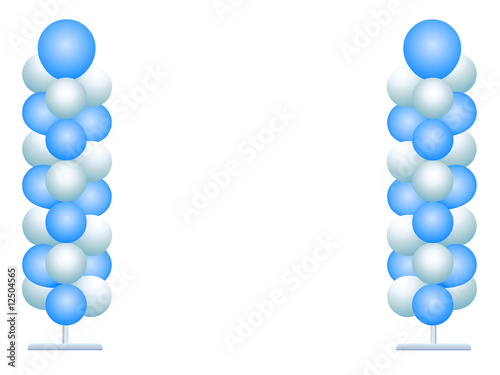 Colonnades de ballons Canvas-taulu