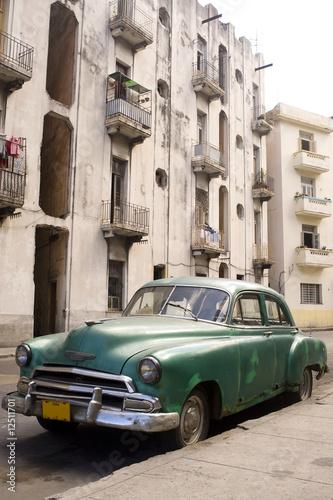 Türaufkleber Autos aus Kuba Havana - Green Car