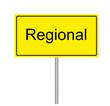 Verkehrzeichen, Verkehrsschild 3D Regional gelb schwarz