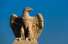 Close Up Of An Old Statue Of An Eagle.