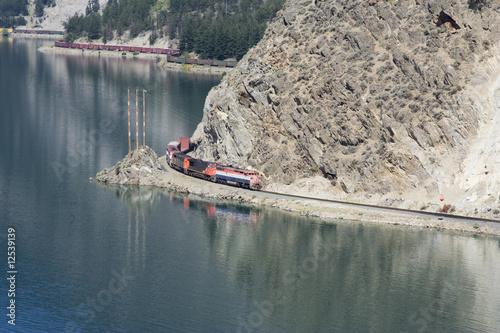 Photo  Long Freight Train