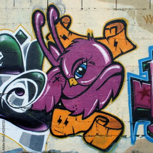 plakat graffiti,tag,rap,art, peinture, rubain, urbaine, culture ,oiseau