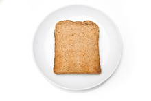 Wholemeal Toast  Isolated On A White Studio Background.