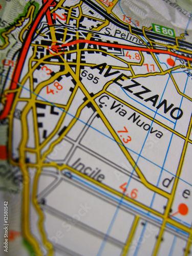 cartina avezzano Canvas Print